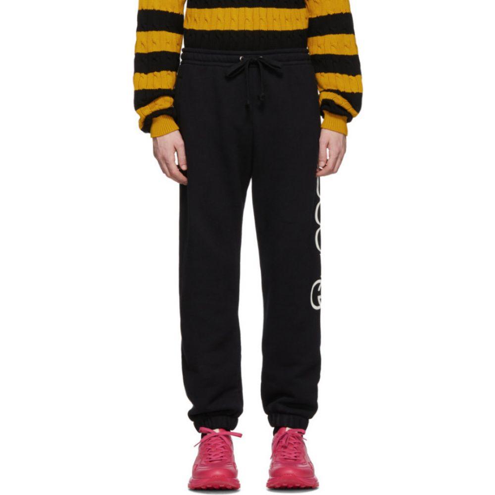 グッチ Gucci メンズ スウェット・ジャージ ボトムス・パンツ【black jogging lounge pants】