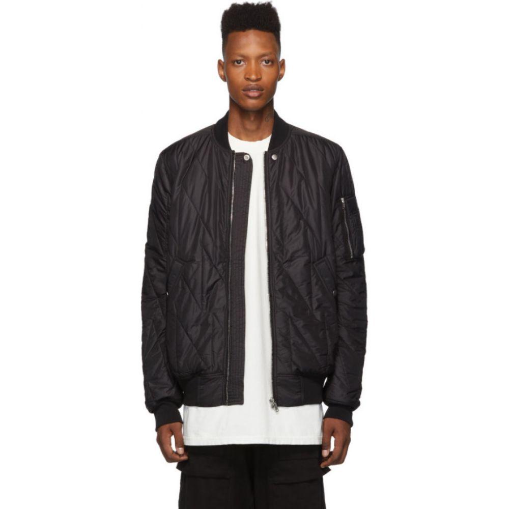リック オウエンス Rick Owens Drkshdw メンズ ブルゾン ミリタリージャケット フライトジャケット アウター【black flight bomber jacket】Black
