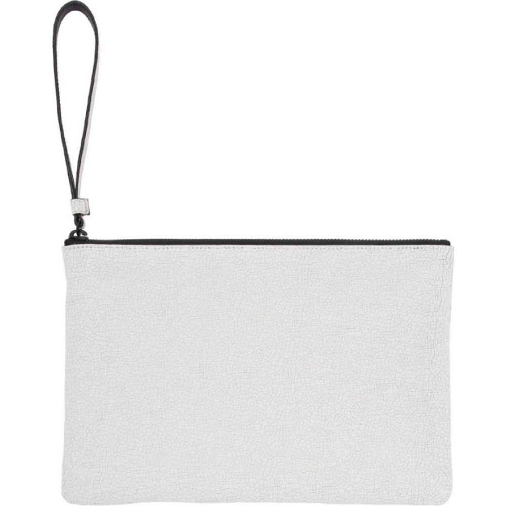 コモン プロジェクト Common Projects メンズ ポーチ 【white medium cracked flat pouch】Cracked white