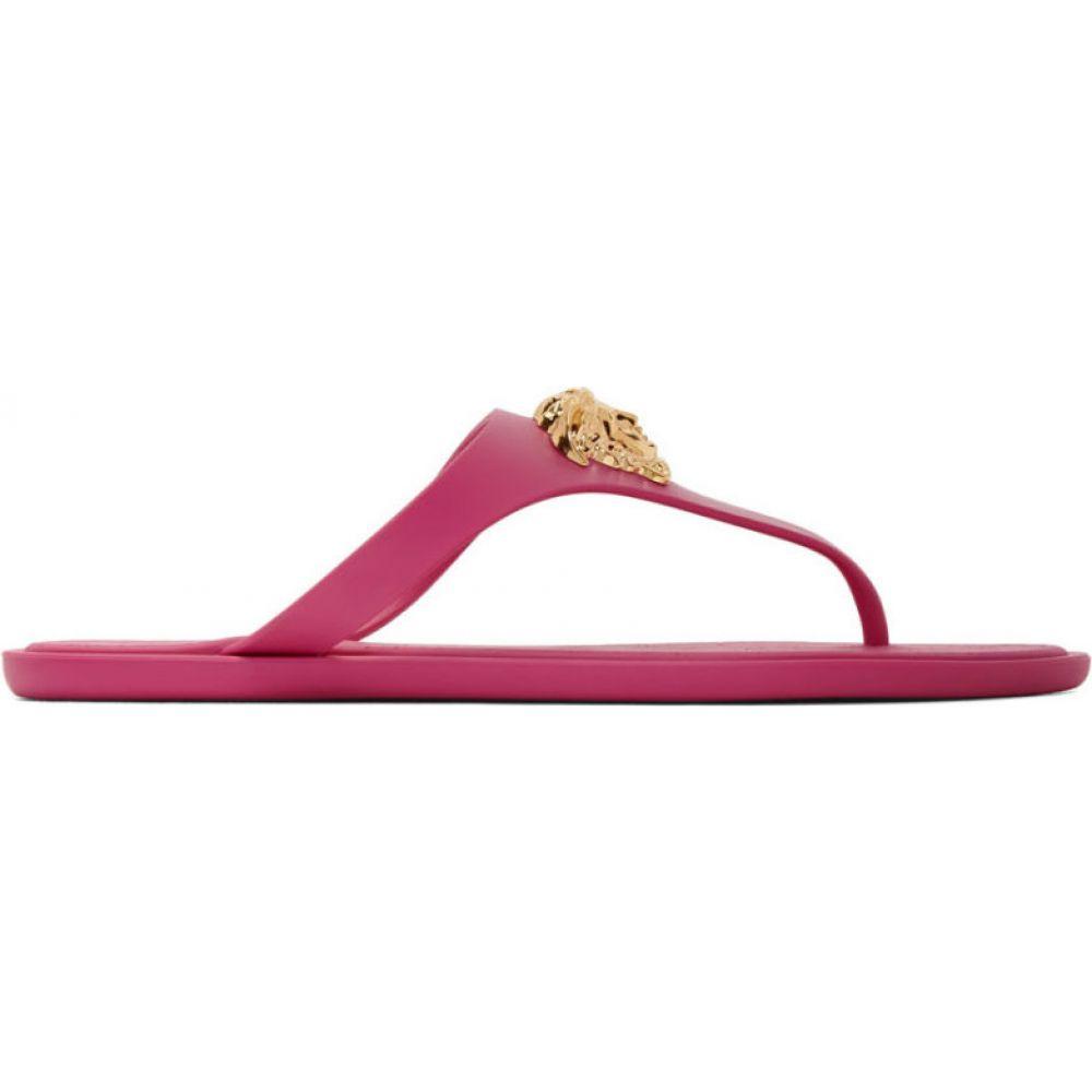 ヴェルサーチ Versace レディース サンダル・ミュール メデューサ シューズ・靴【pink medusa thong sandals】Hot pink
