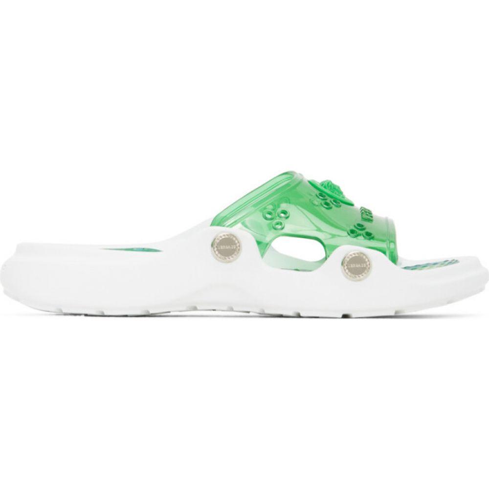 ヴェルサーチ Versace レディース サンダル・ミュール シューズ・靴【green jungle print pool slides】Green