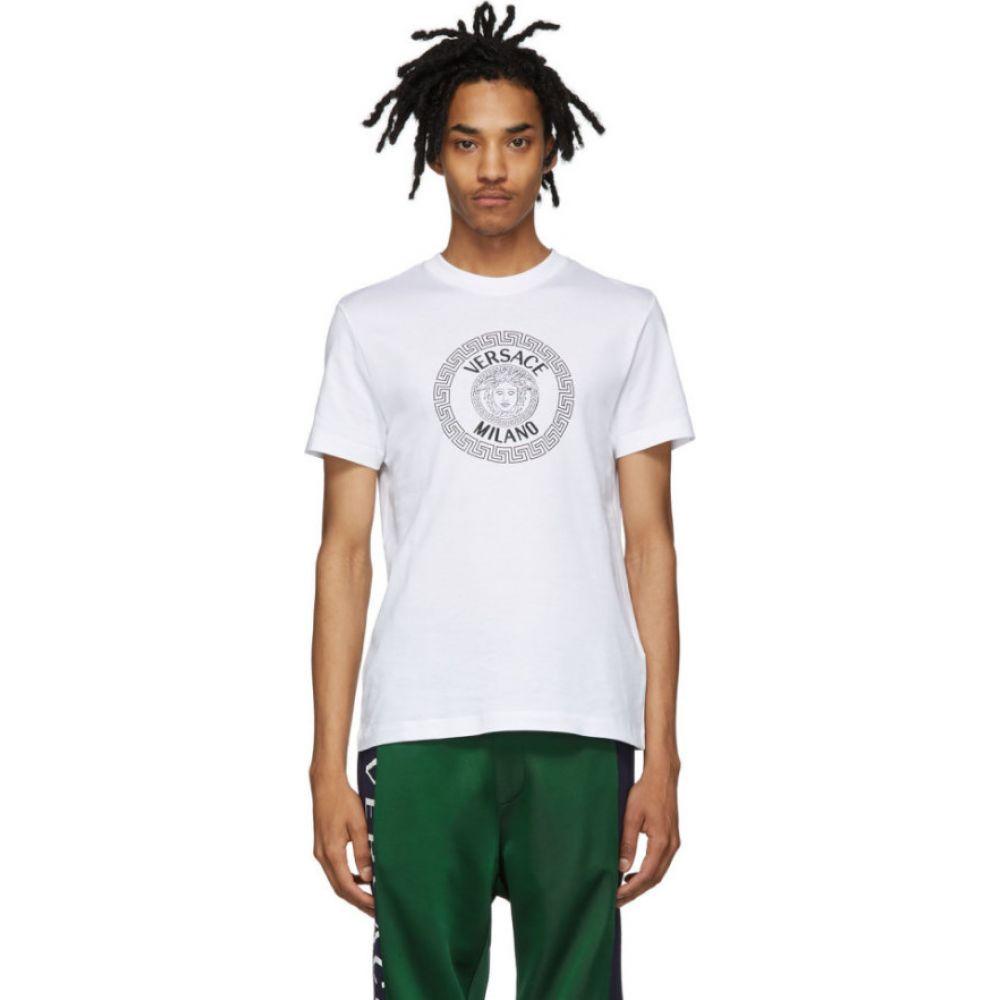 ヴェルサーチ Versace メンズ Tシャツ トップス【white milano t-shirt】White