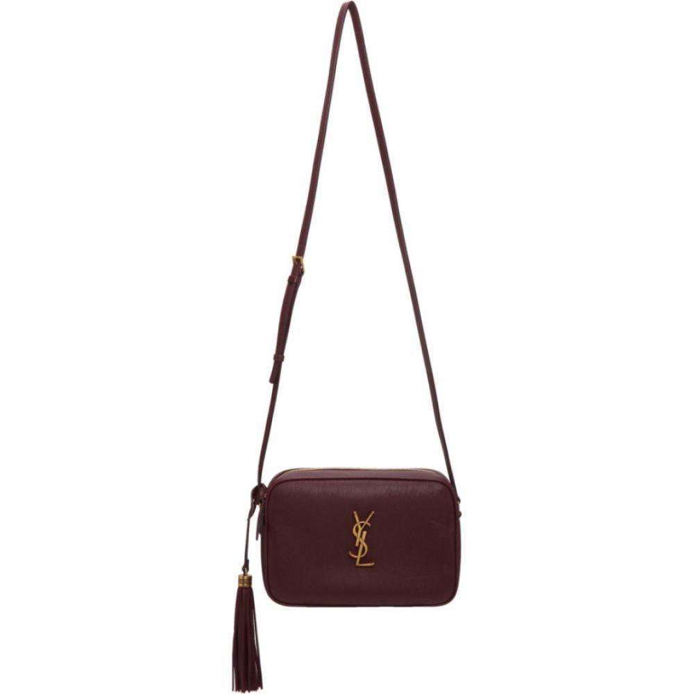 イヴ サンローラン Saint Laurent レディース ショルダーバッグ カメラバッグ バッグ【burgundy smooth lou camera bag】Red velvet