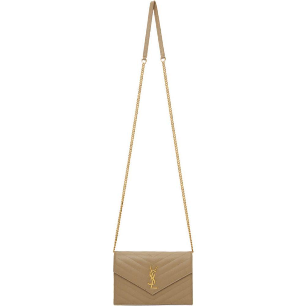 イヴ サンローラン Saint Laurent レディース ショルダーバッグ バッグ【gold monogramme envelope chain wallet bag】Gold
