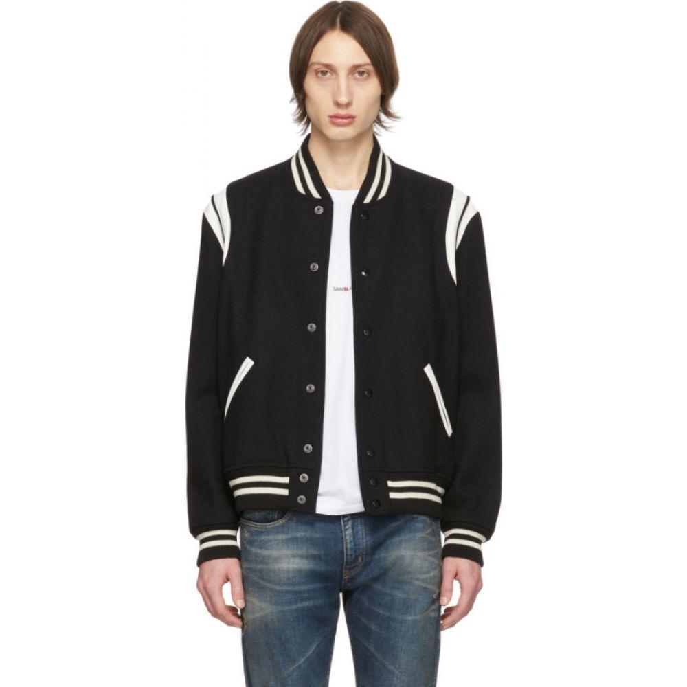イヴ サンローラン Saint Laurent メンズ ブルゾン ミリタリージャケット アウター【black classic teddy bomber jacket】Black