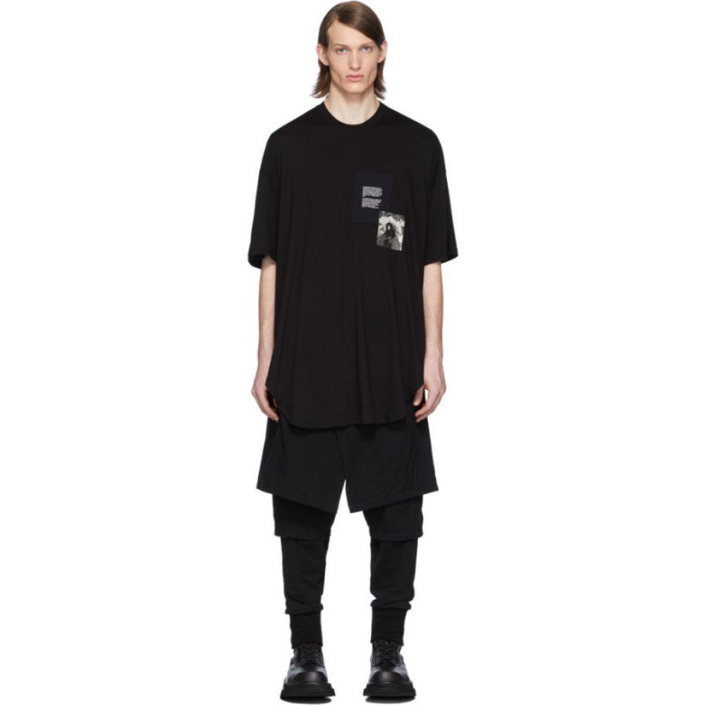 ユリウス Julius メンズ Tシャツ トップス【black patch print t-shirt】Black