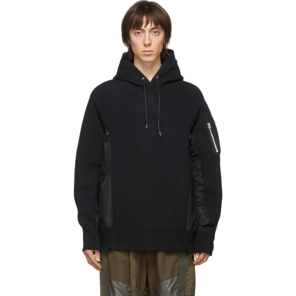 サカイ Sacai メンズ パーカー トップス【black sponge x ma-1 hoodie】Black