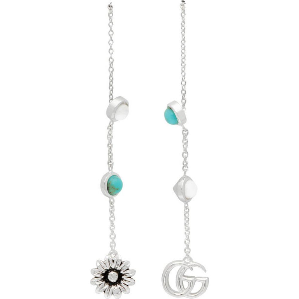 グッチ Gucci レディース イヤリング・ピアス ドロップピアス ジュエリー・アクセサリー【silver gg flower drop earrings】Silver