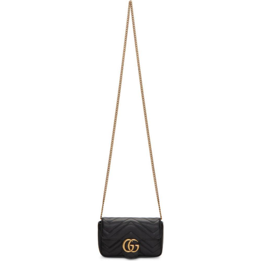 グッチ Gucci レディース ショルダーバッグ バッグ【black super mini gg marmont bag】Black