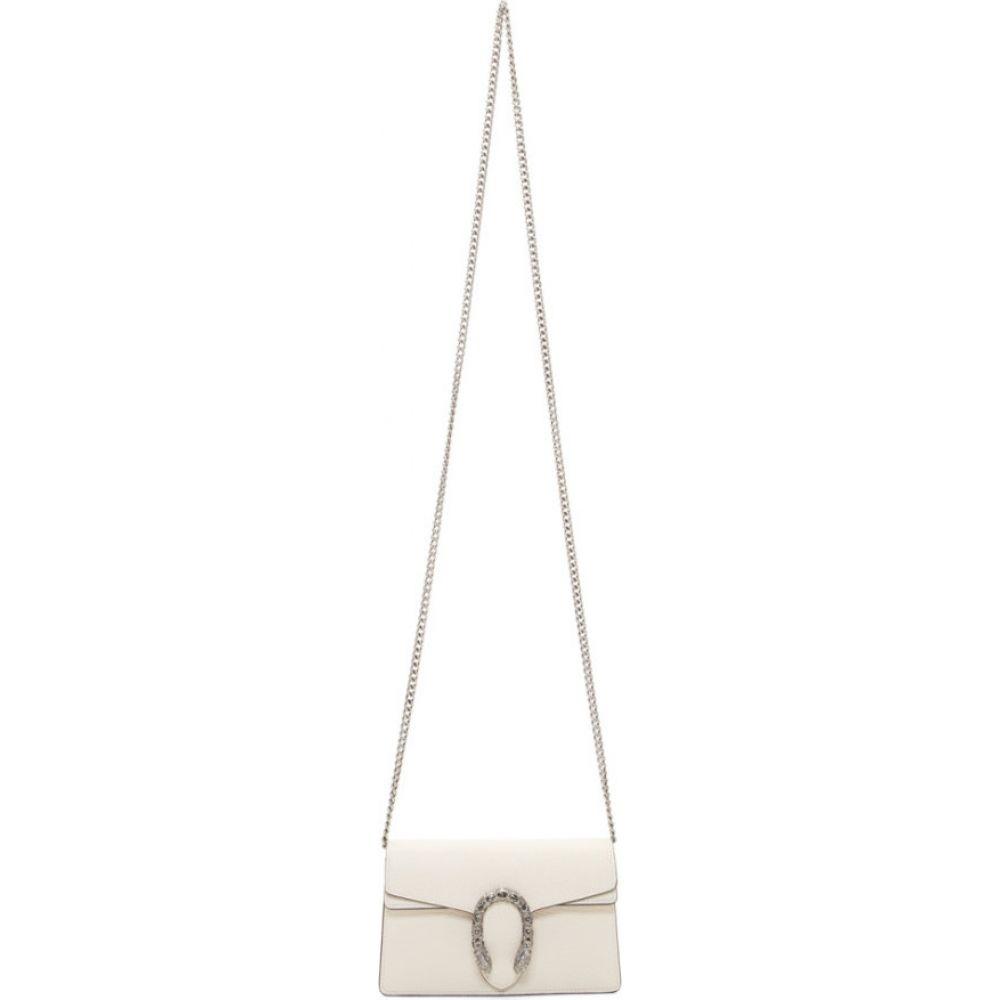 グッチ Gucci レディース ショルダーバッグ バッグ【white super mini leather dionysus bag】Ivory