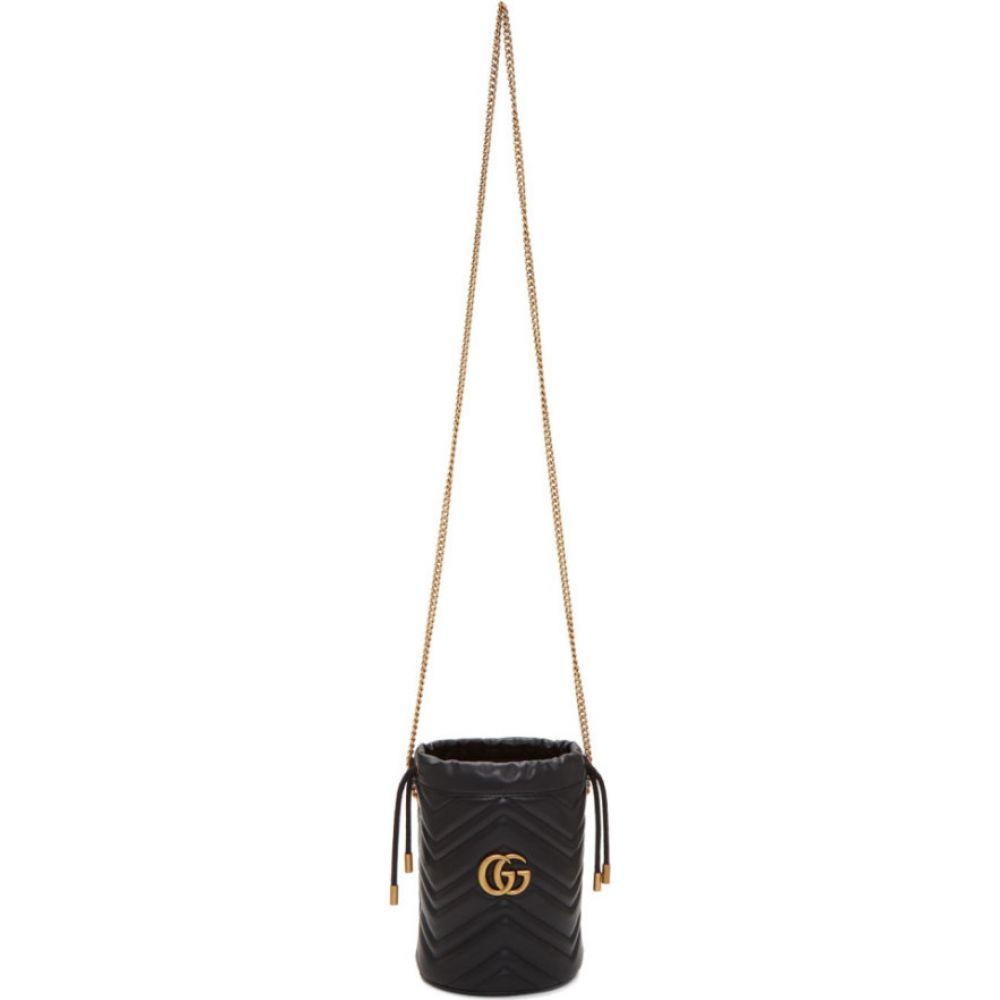 グッチ Gucci レディース ショルダーバッグ バケットバッグ バッグ【black mini gg marmont 2.0 bucket bag】Black