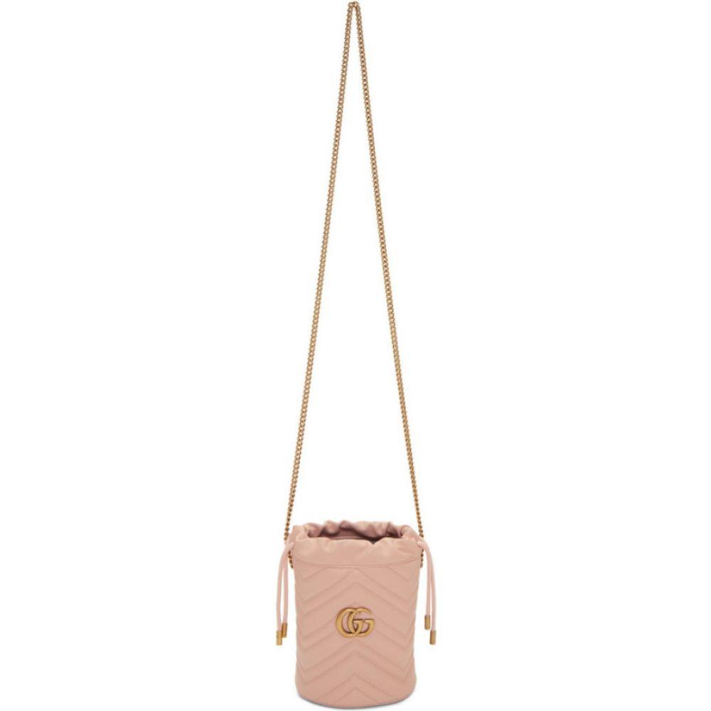 グッチ Gucci レディース ショルダーバッグ バケットバッグ バッグ【pink mini gg marmont 2.0 bucket bag】Pink