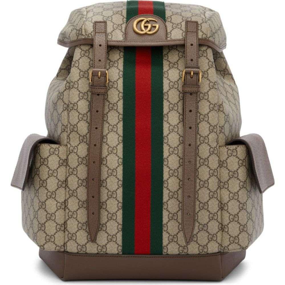 グッチ Gucci メンズ バックパック・リュック バッグ【brown medium gg ophidia backpack】Beige/Ebony