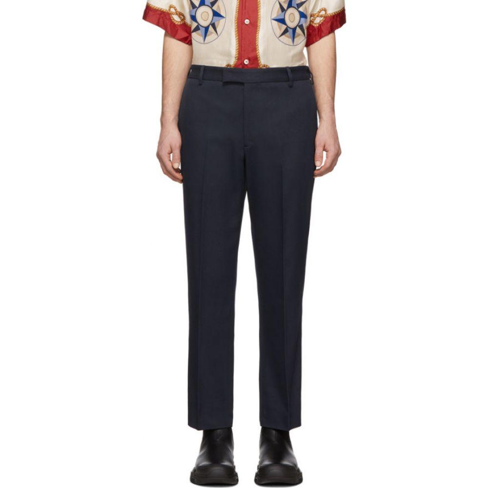 グッチ Gucci メンズ ボトムス・パンツ 【navy whipcord cover trousers】Caspian