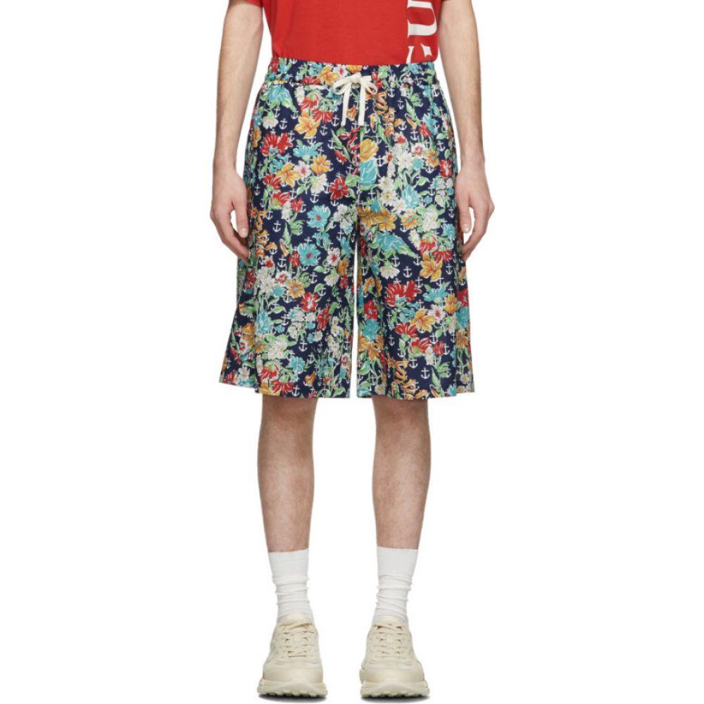 グッチ Gucci メンズ ショートパンツ ボトムス・パンツ【multicolor hawaiian anchors shorts】Multicolor