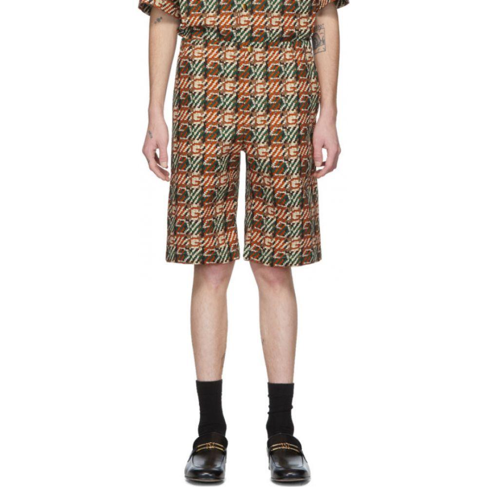 グッチ Gucci メンズ ショートパンツ ボトムス・パンツ【multicolor g print shorts】Ivory/Orange/Red/Green