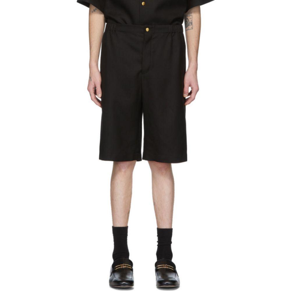 グッチ Gucci メンズ ショートパンツ ボトムス・パンツ【black 'orgasmique' linen shorts】Black