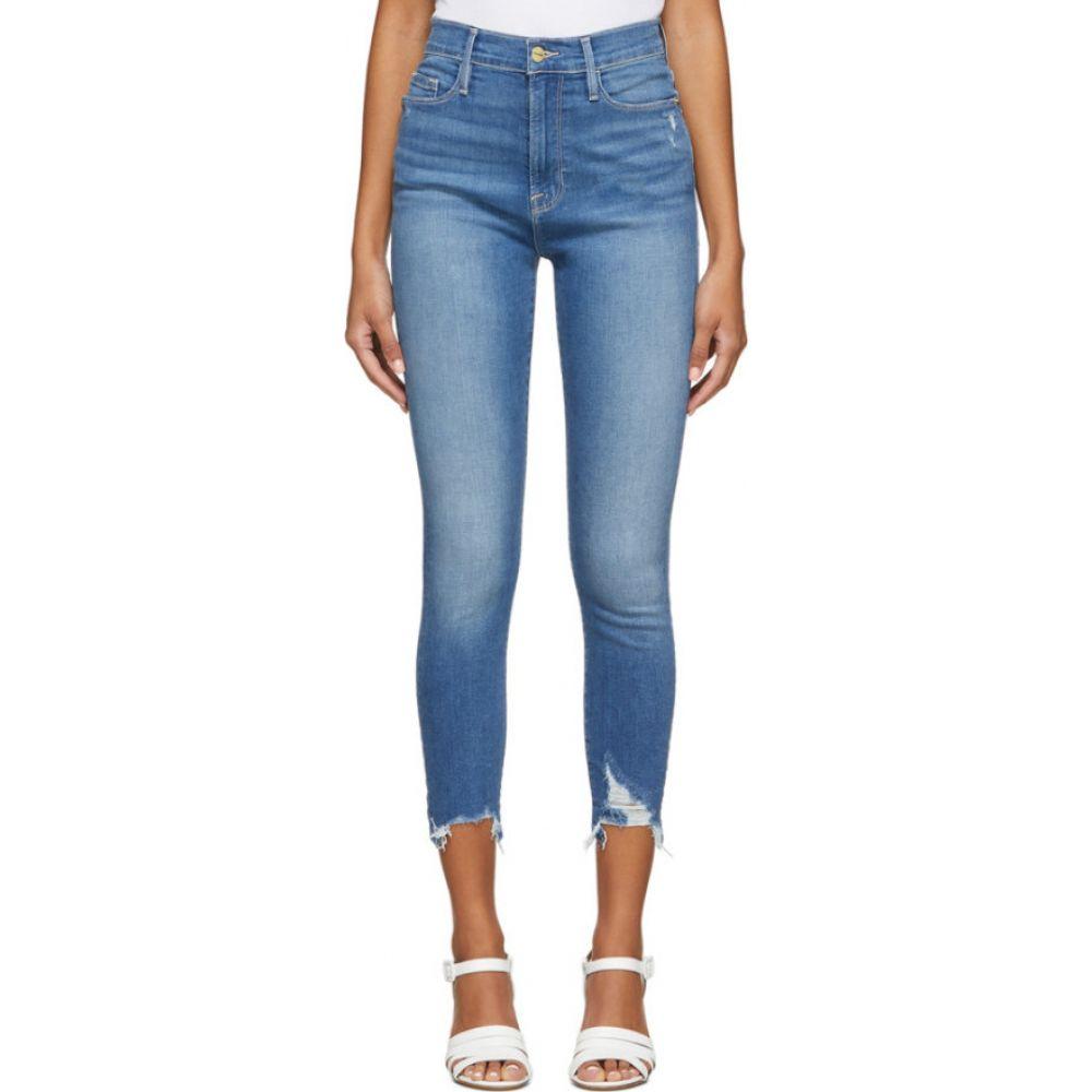 フレーム Frame レディース ジーンズ・デニム ボトムス・パンツ【blue ali high-rise cigarette jeans】Madera rips
