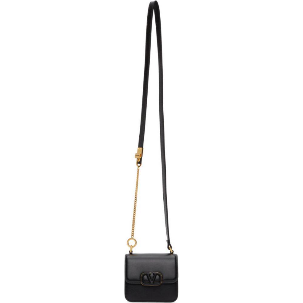ヴァレンティノ Valentino レディース ショルダーバッグ バッグ【black garavani mini vsling shoulder bag】Black