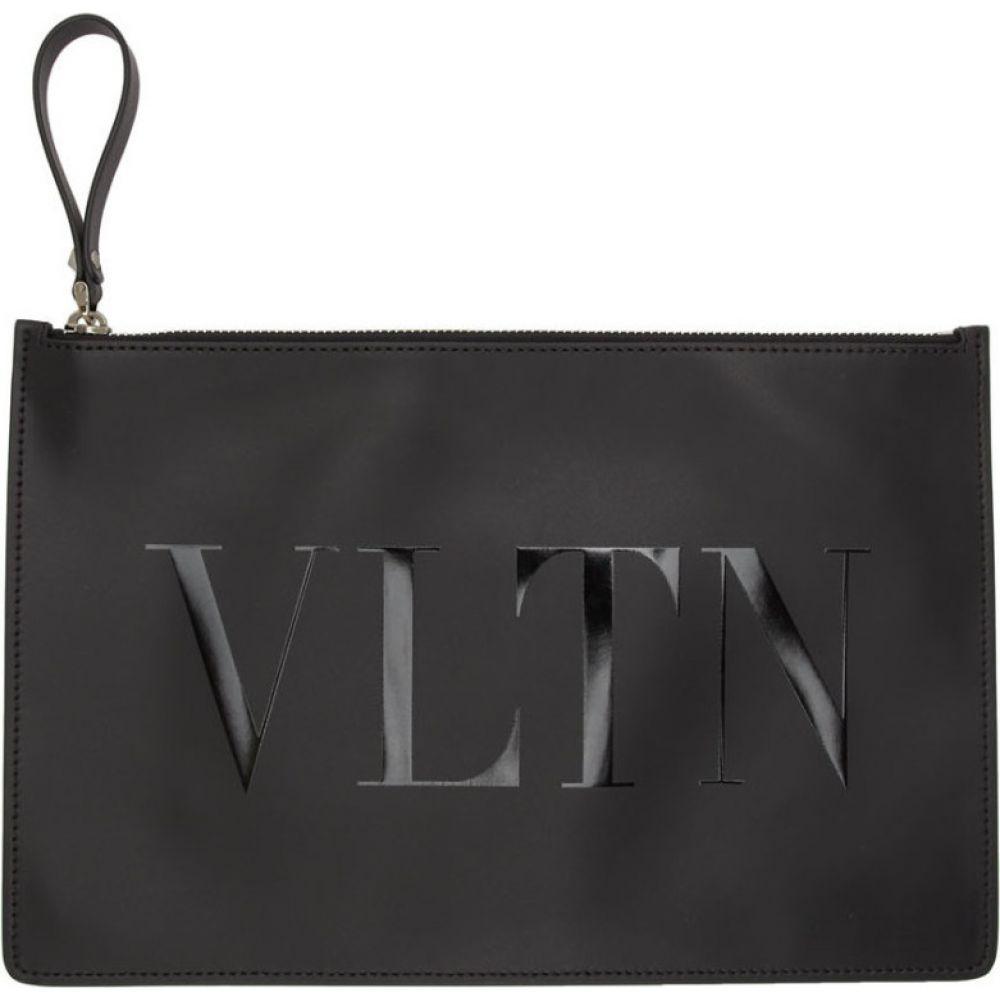 ヴァレンティノ Valentino メンズ ポーチ 【black garavani 'vltn' pouch】Nero