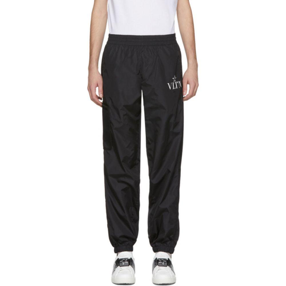 ヴァレンティノ Valentino メンズ スウェット・ジャージ ボトムス・パンツ【black vltn star track pants】Black