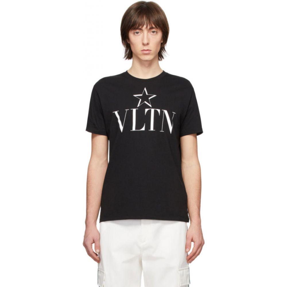 ヴァレンティノ Valentino メンズ Tシャツ トップス black 'vltn' star t-shirt Black 引っ越し祝い プレミアム•学割 対象 開業祝