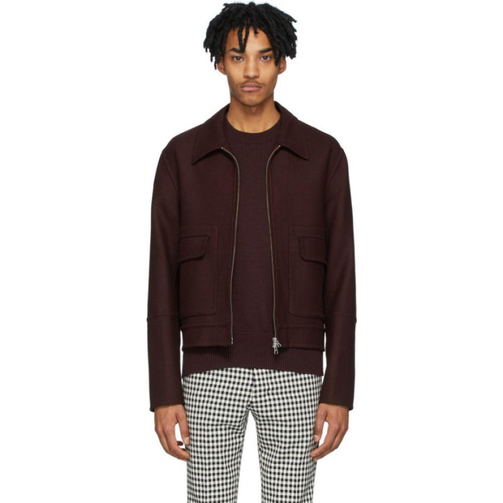 アミアレクサンドルマテュッシ AMI Alexandre Mattiussi メンズ ジャケット アウター【burgundy unstructured zipped jacket】Bordeaux