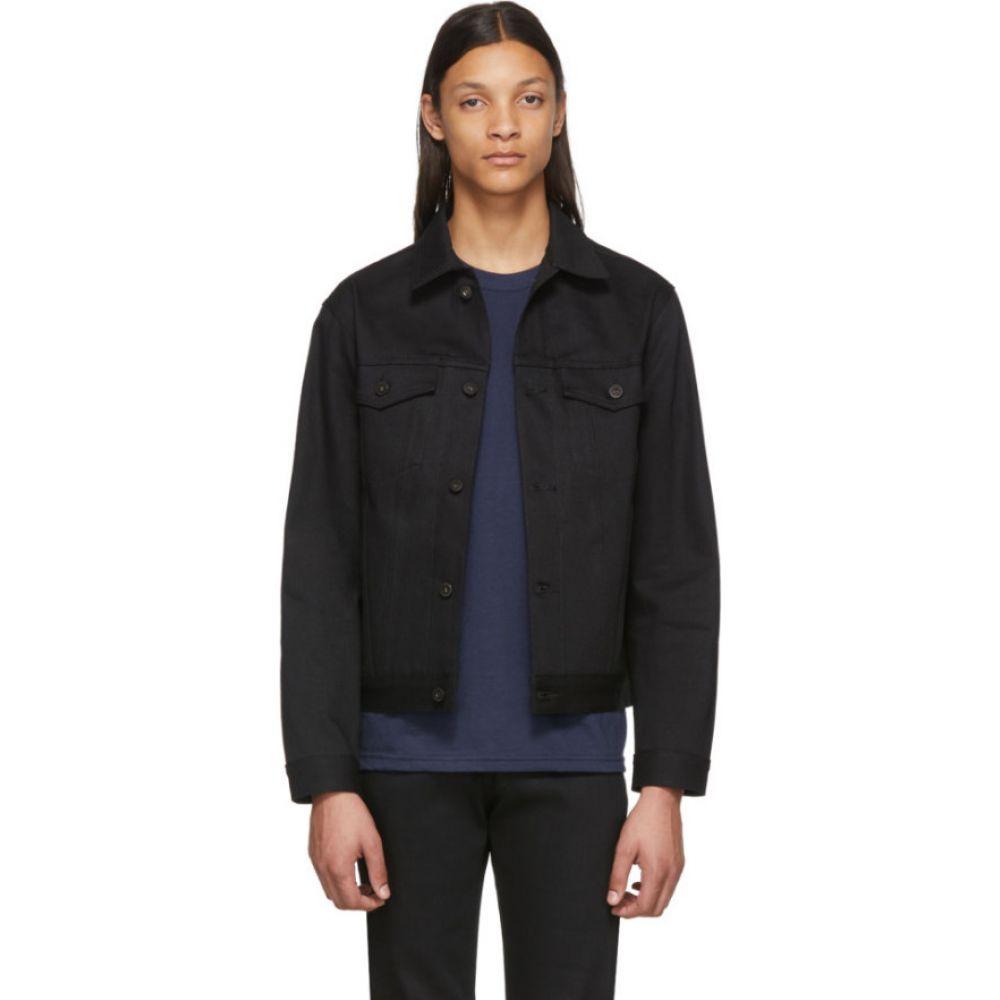 ネイキッド アンド フェイマス Naked & Famous Denim メンズ ジャケット Gジャン アウター【black selvedge denim jacket】Solid black