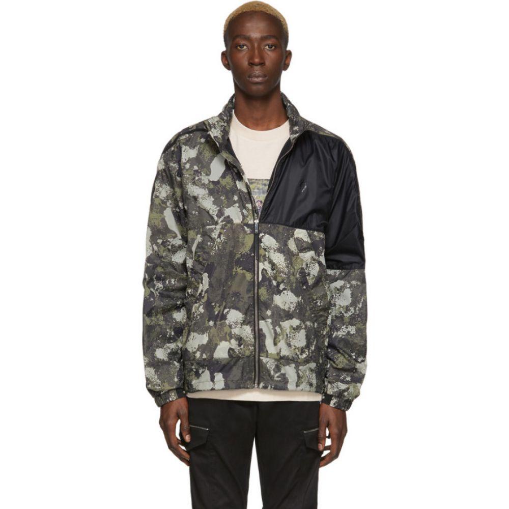 マルセロバーロン Marcelo Burlon County of Milan メンズ ジャケット ウィンドブレーカー アウター【beige & green camo windbreaker jacket】Beige/Green