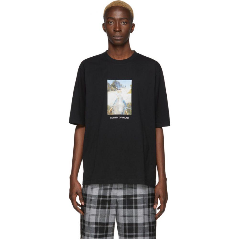 マルセロバーロン Marcelo Burlon County of Milan メンズ Tシャツ トップス【black holy square t-shirt】Black/Blue
