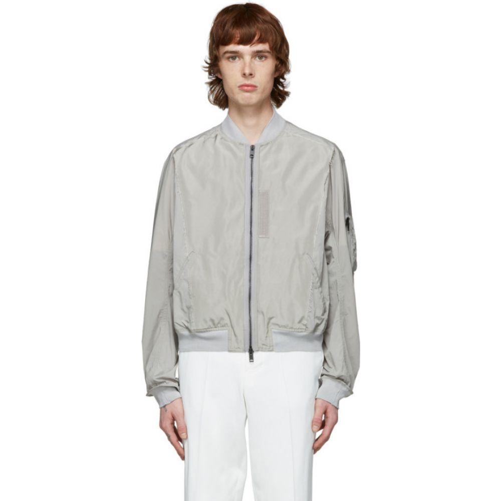 ハイダー アッカーマン Haider Ackermann メンズ ブルゾン ミリタリージャケット アウター【grey nylon bomber jacket】Grey