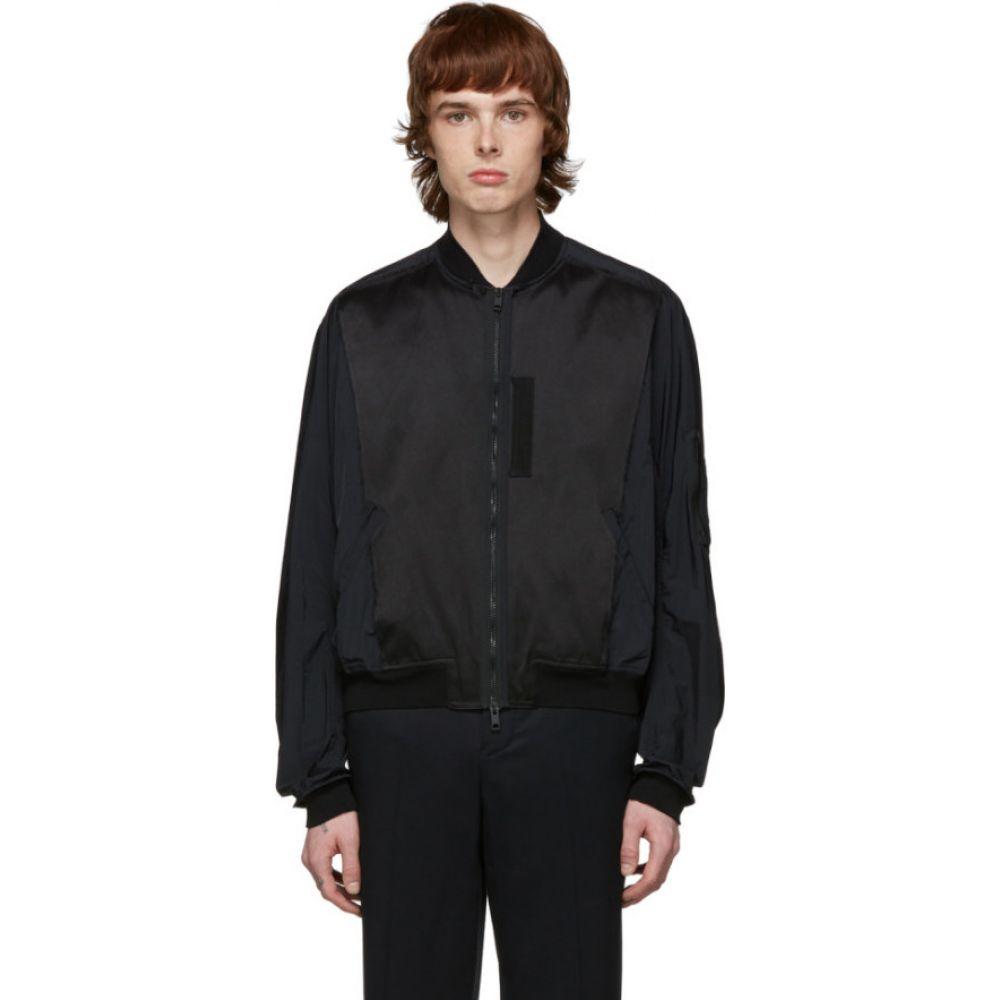ハイダー アッカーマン Haider Ackermann メンズ ブルゾン ミリタリージャケット アウター【black nylon bomber jacket】Black