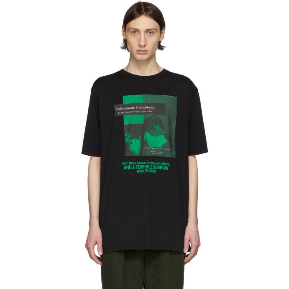 ハイダー アッカーマン Haider Ackermann メンズ Tシャツ トップス【black 'unfortunate coincidence' t-shirt】Black