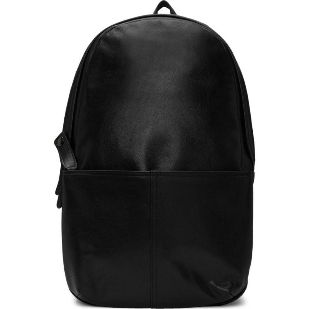 ヨウジヤマモト Yohji Yamamoto メンズ バックパック・リュック バッグ【black leather day backpack】Black