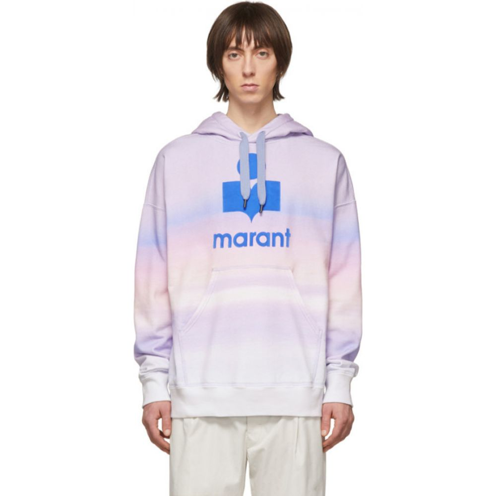 イザベル マラン Isabel Marant メンズ パーカー トップス【purple & pink miley hoodie】Blue/Pink