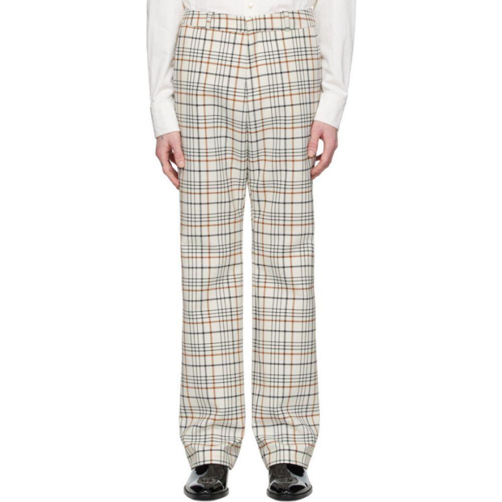 パコラバンヌ Paco Rabanne メンズ ボトムス・パンツ 【off-white tartan trousers】Light beige tartan