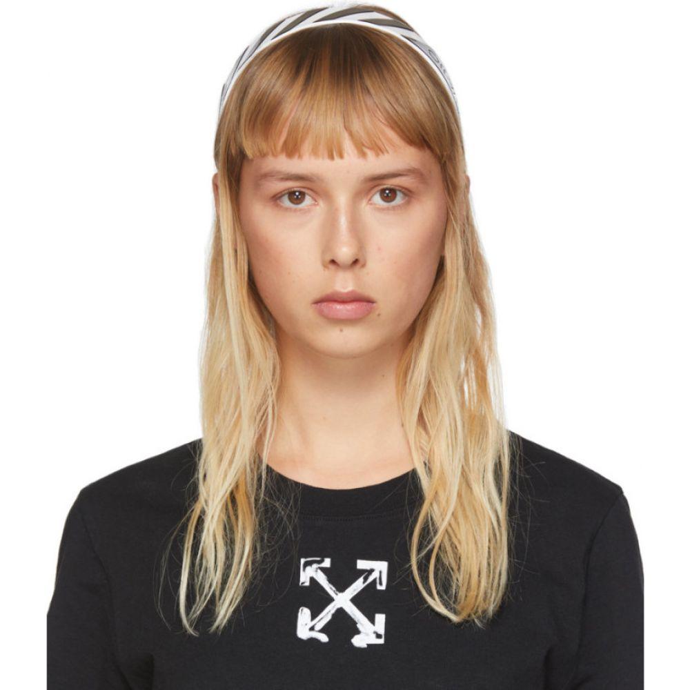 オフホワイト Off-White レディース ヘアアクセサリー ヘッドバンド【black & white diag headband】White/Black