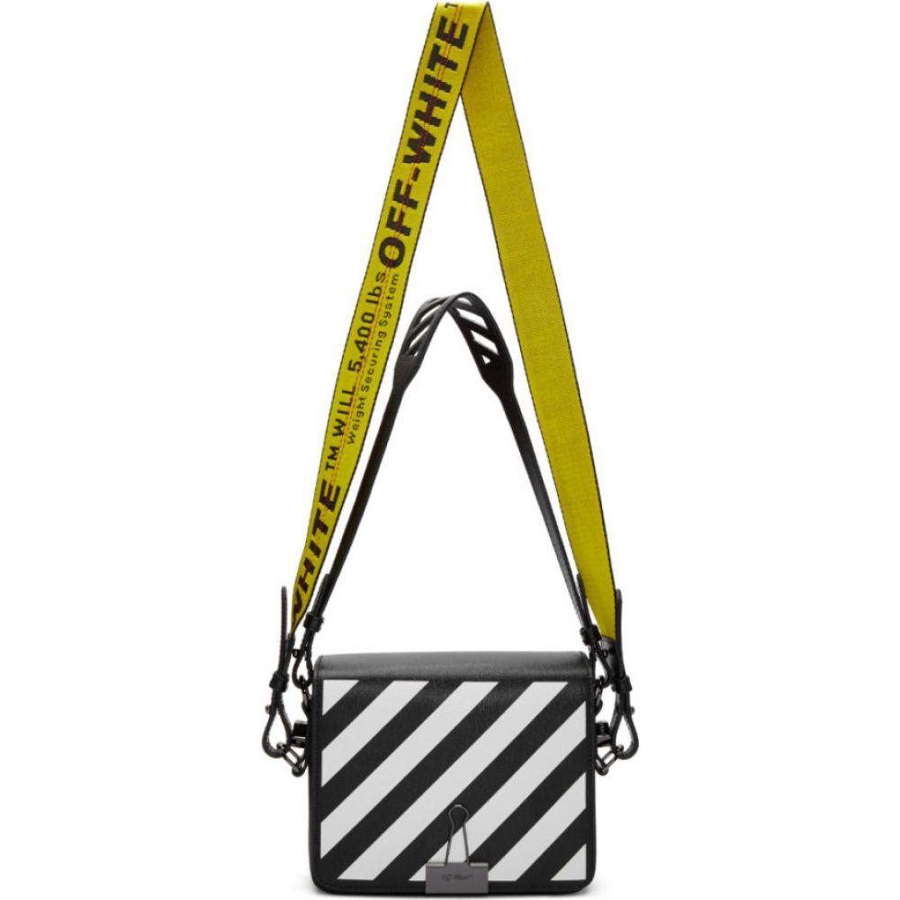 オフホワイト Off-White レディース ショルダーバッグ バッグ【ssense exclusive black diag flap bag】Black