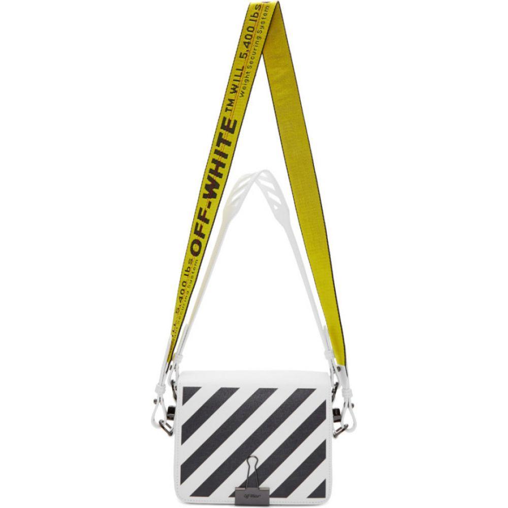オフホワイト Off-White レディース ショルダーバッグ バッグ【ssense exclusive white diag flap bag】White