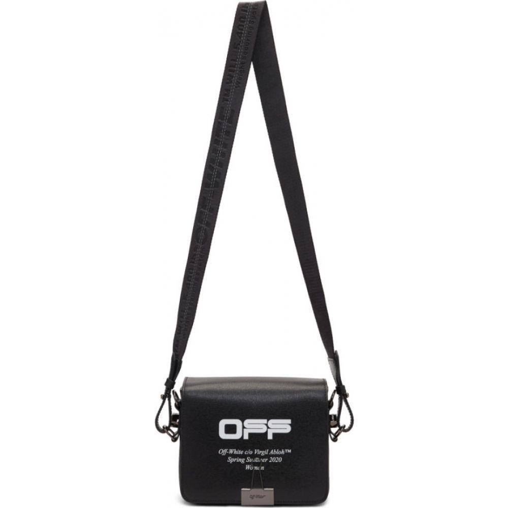 オフホワイト Off-White レディース ショルダーバッグ バッグ【black wavy logo flap bag】Black/White