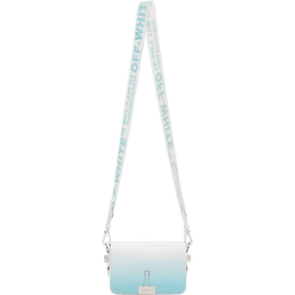 オフホワイト Off-White レディース ショルダーバッグ バッグ【blue gradient flap bag】Light blue/white