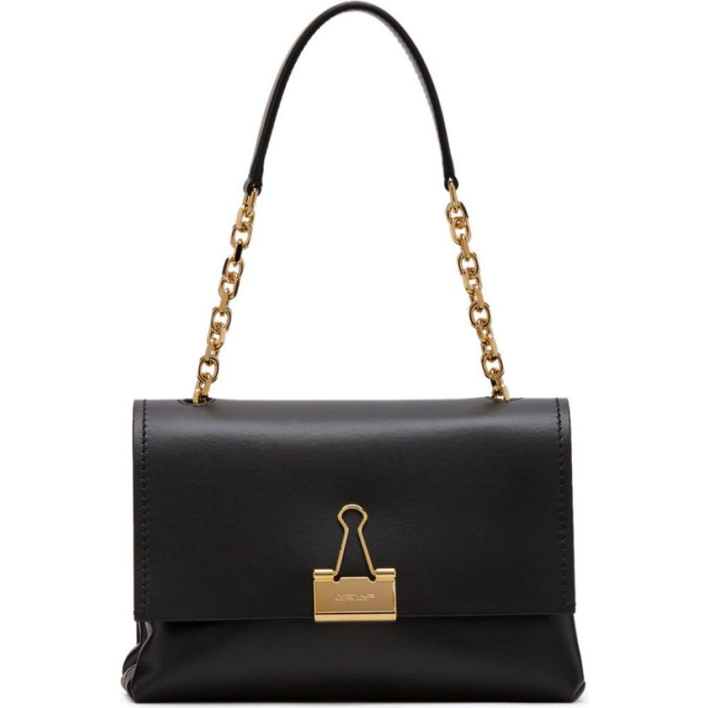 オフホワイト Off-White レディース ショルダーバッグ バッグ【black medium soft binder clip bag】Black