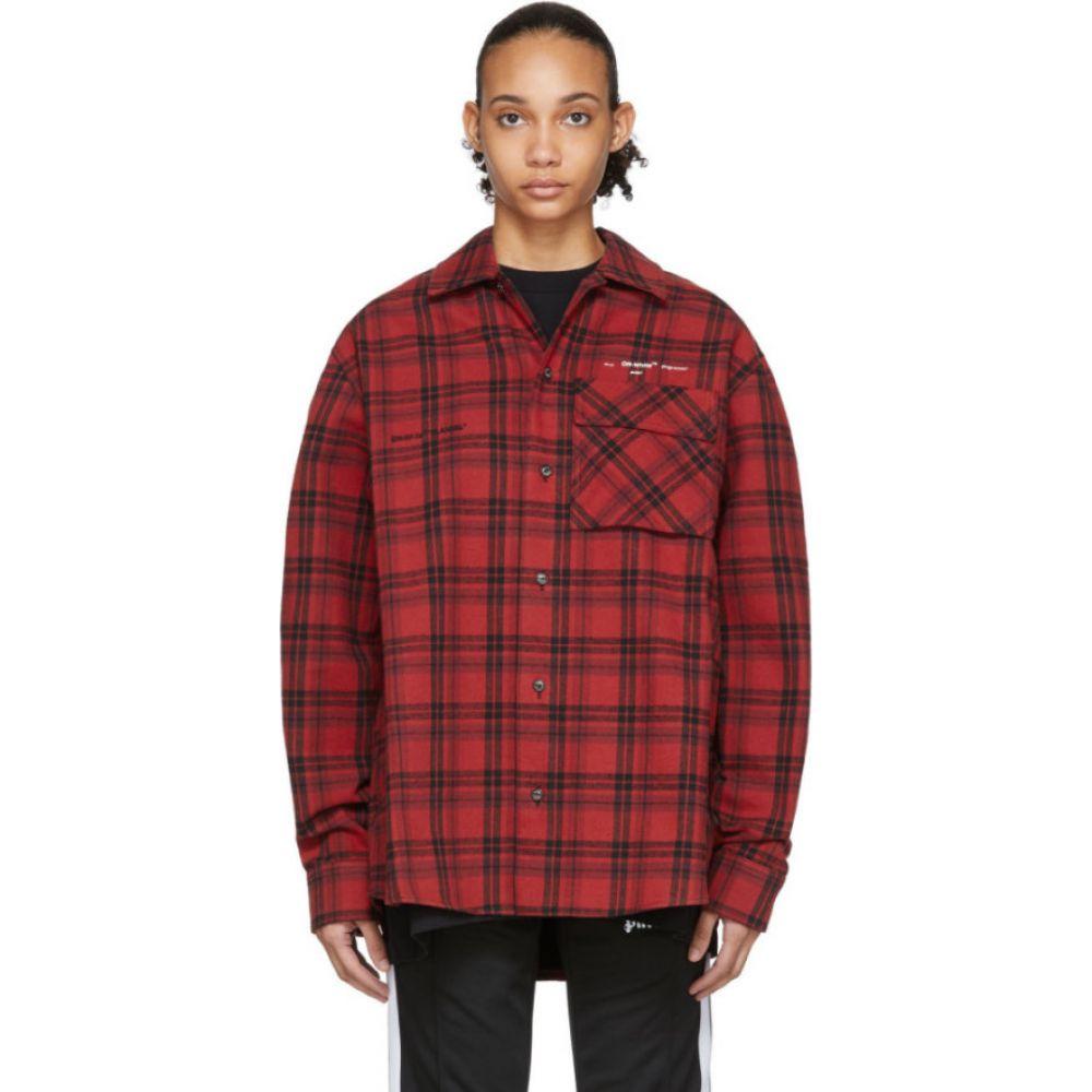 オフホワイト Off-White レディース ブラウス・シャツ フランネルシャツ トップス【red flannel check shirt】Red/White