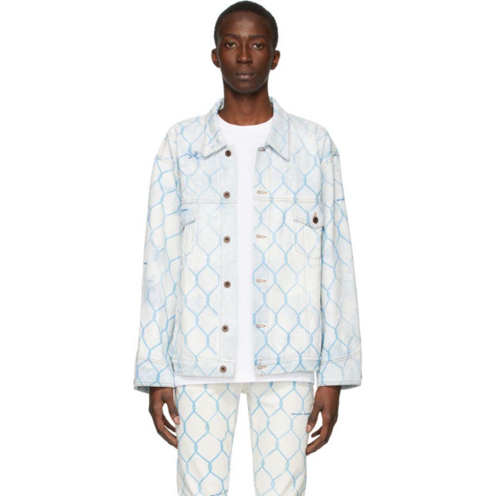 オフホワイト Off-White メンズ ジャケット Gジャン アウター【& blue denim fence jacket】Bleach light blue