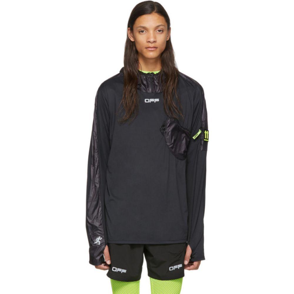 オフホワイト Off-White メンズ パーカー トップス【black & silver jogging hoodie】Black/Silver