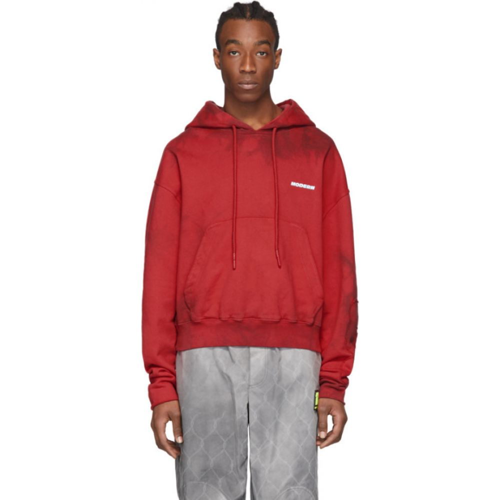 オフホワイト Off-White メンズ パーカー トップス【red tie-dye contour hoodie】Red
