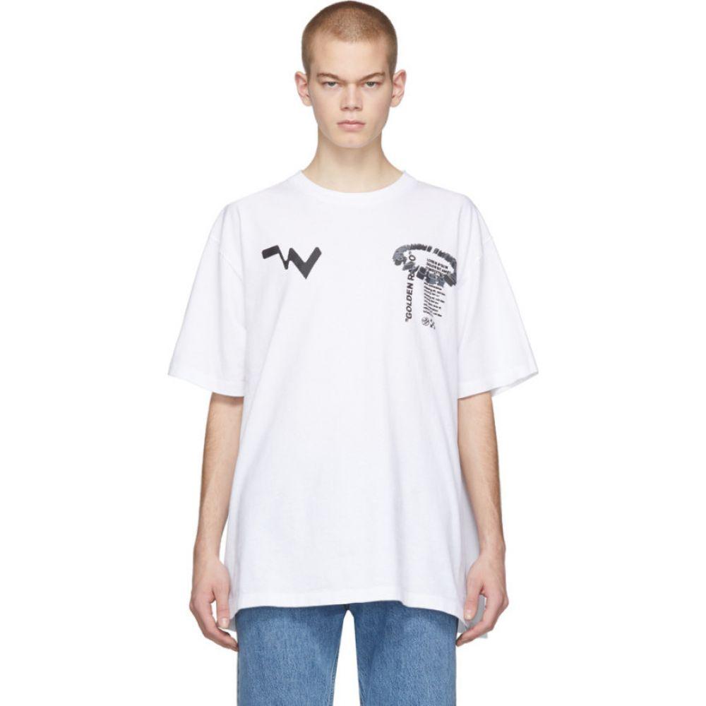 オフホワイト Off-White メンズ Tシャツ トップス【white low res t-shirt】White black