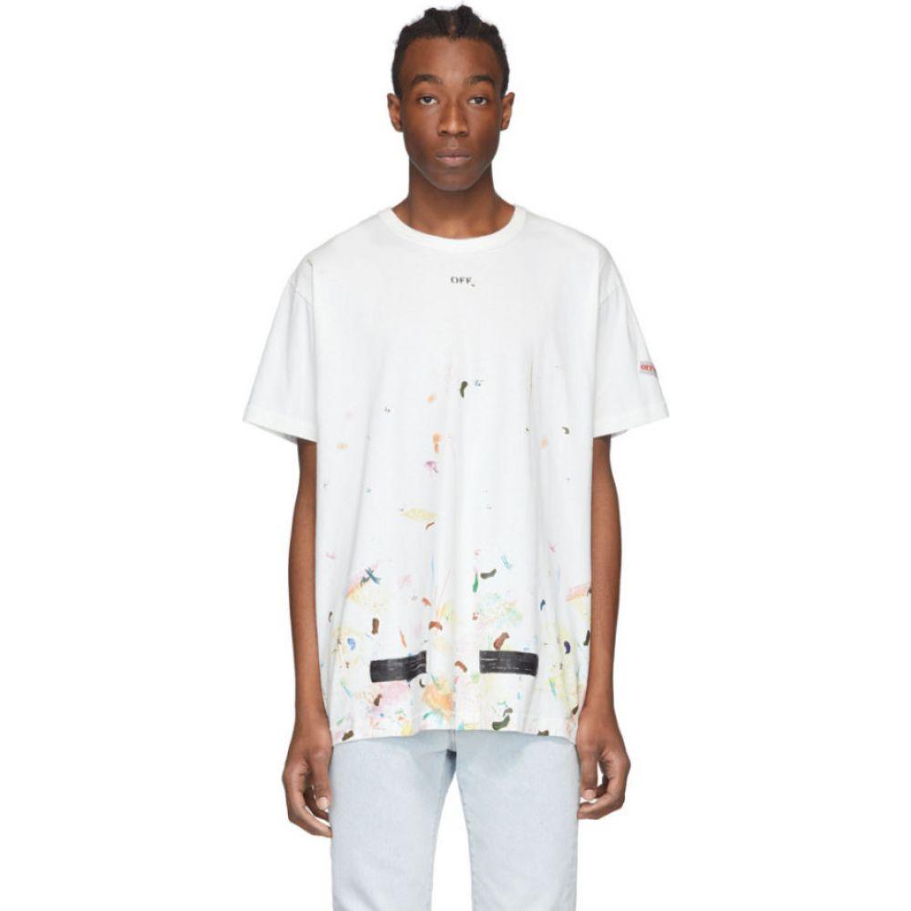 オフホワイト Off-White メンズ Tシャツ トップス【ssense exclusive white galaxy brush t-shirt】White