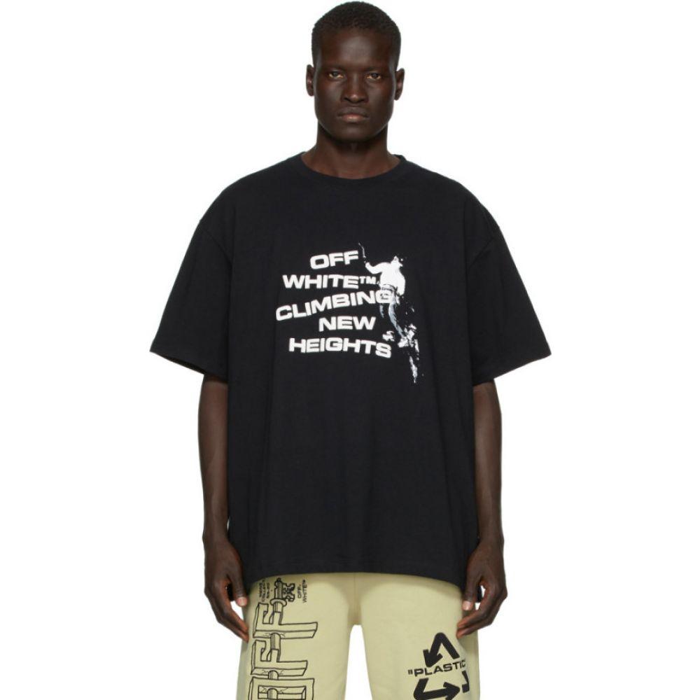 オフホワイト Off-White メンズ Tシャツ トップス【black 'climbing new heights' t-shirt】Black/White
