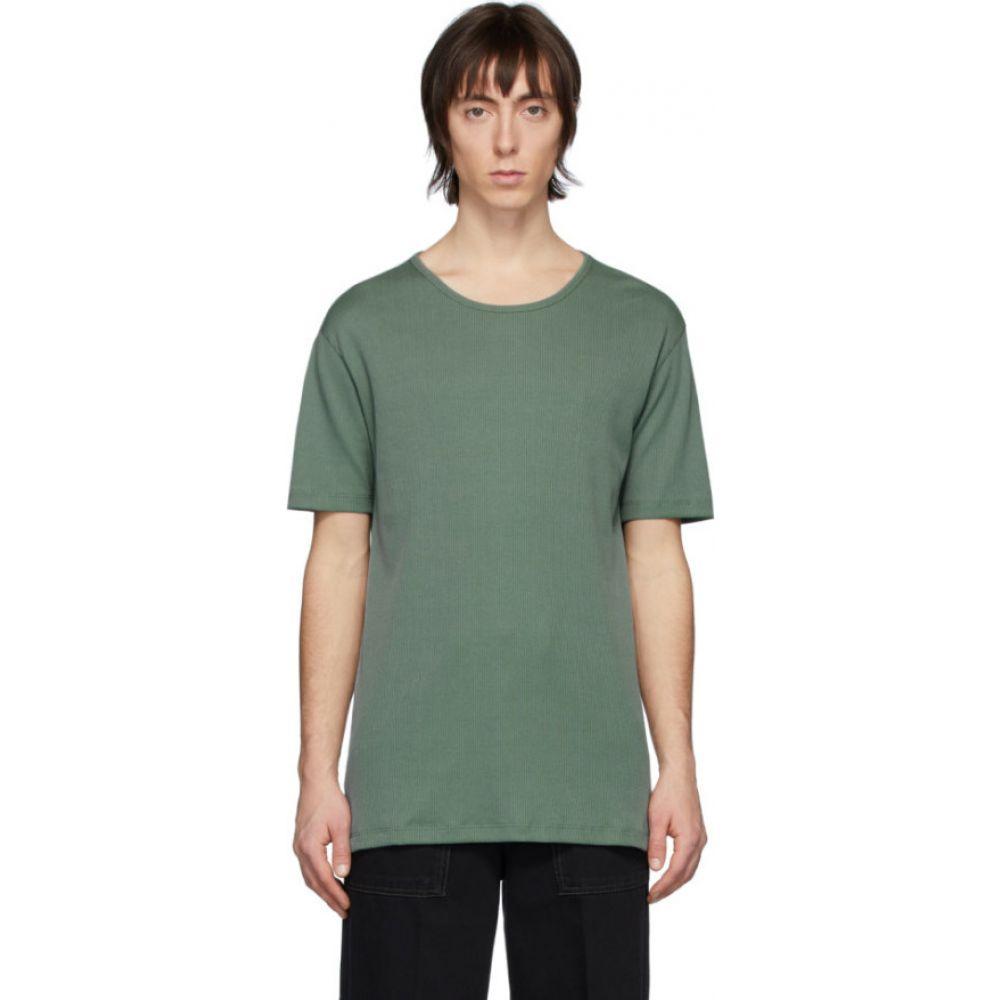 ルメール Lemaire メンズ Tシャツ トップス【green rib knit t-shirt】Sauge